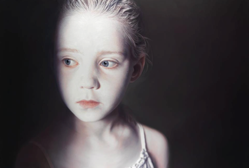 Another stunning painting by artist Gottfried Helnwein.