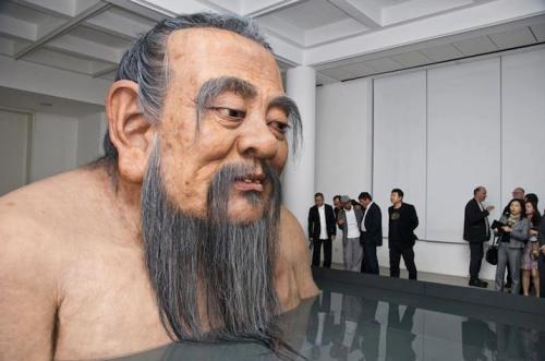 Confucius by Zhang Huan.