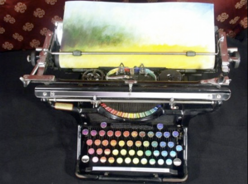 James Plafke - Chromatic Typewriter that you can type a painting with.