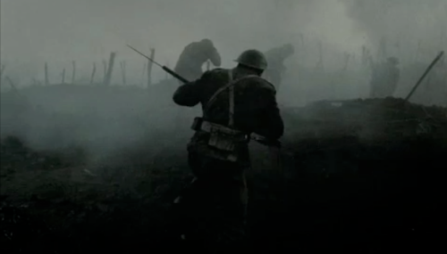 Scene from my film, Vimy Ridge assault.
