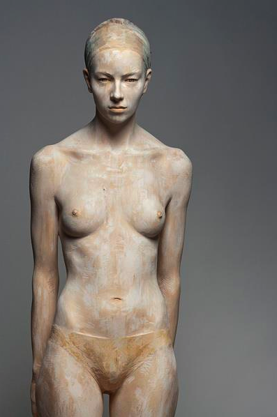 'Tania' by Bruno Walpoth. Carved from wood.