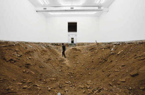 "Urs Fischer- ""You"" -2007- Excavation of gallery space ""Enterprise"""