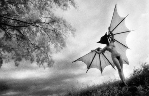 Bat Woman. Gelatin silver print.