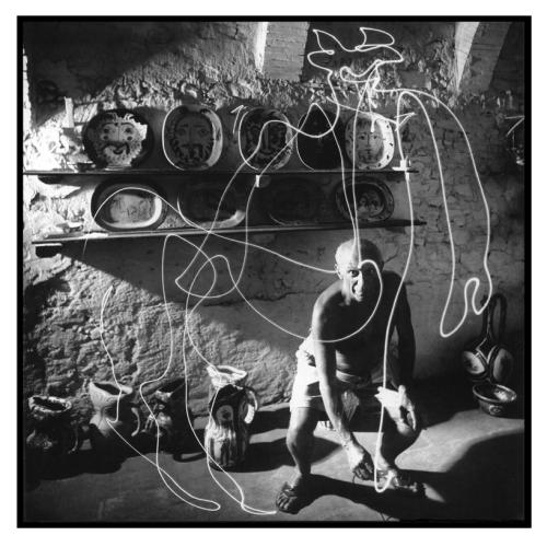 Picasso draws a Centaur