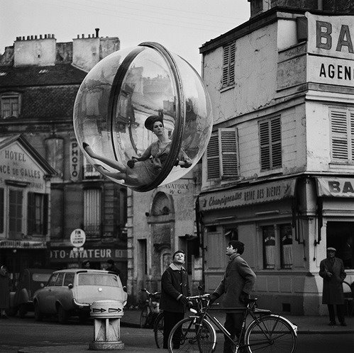 woman in a bubble