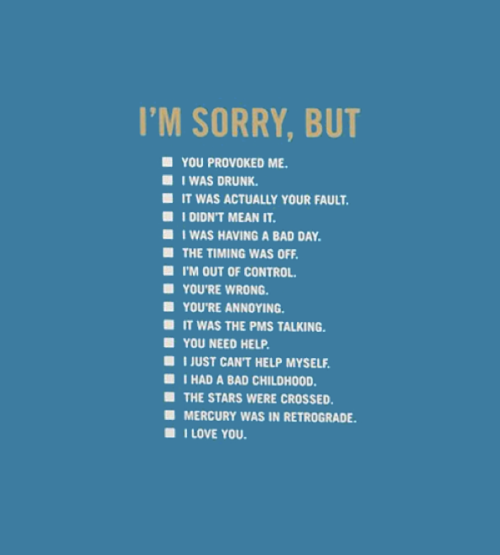 Yasmine Zalek. Apology Kit