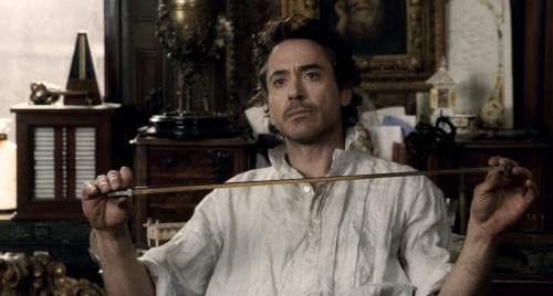 Robert as Sherlock