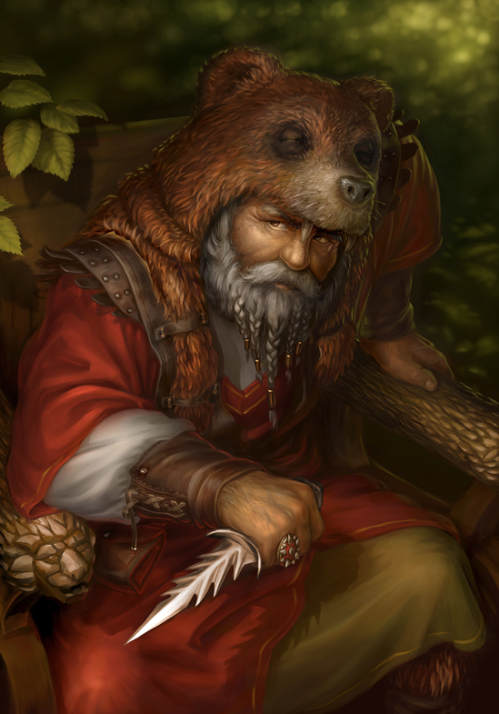 Bear Druid by Pijik