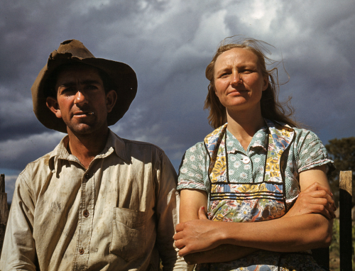 Jack Whinery and his wife Edith was taken by Russell Lee in Pie Town, NM, in Sept 1940.