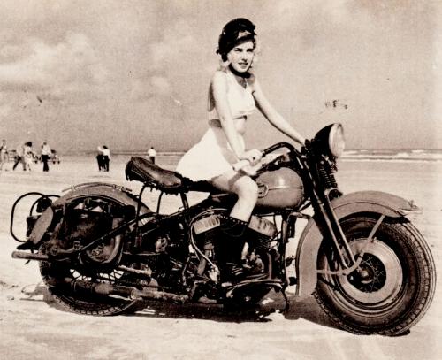 Vintage Harley Girl