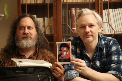 Richard Stallman:Edward Snowdon: Julian Assange (July 2013)